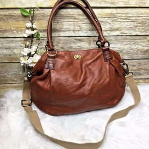 Cynthia Rowley Brown Leather Hobo Crossbody Bag
